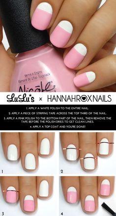 Mani Monday: Pastel Pink and White Mani Tutorial - Lulus.com Fashion Blog: