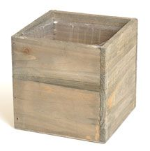"""WOODLAND"" CUBE PLANTER 5"" - CHOOSE FROM 2 COLORS Wooden Containers, Succulents In Containers, Rustic Centerpieces, Wedding Centerpieces, Real Flowers, Artificial Flowers, Wooden Cubes, Floral Foam, Antique Shops"