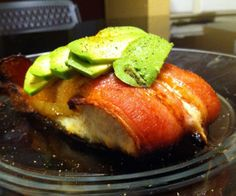 high fat low carb salmon avocado