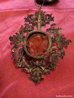 Antigüedades: Antiguo relicario de plata con reliquias, siglo XVIII - Foto 6 - 84709212