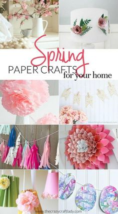 Spring Paper Crafts for Your Home Diy Crafts Videos, Easy Crafts, Diy And Crafts, Kid Crafts, Diy Crafts For Adults, Paper Crafts For Kids, Cardboard Crafts, Paper Crafting, Upcycled Crafts