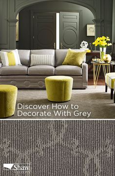 Learn to decorate with one of the most talked about colors in home design and fashion, grey! It gives off a sophisticated look that goes with any shade of furniture or accessories. Consider these ideas for a classy vibe that'll impress your guests.