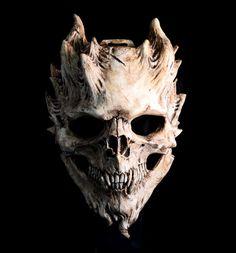 Bone Warrior, Aged Bone Skull Mask/Demon Skull/ Horror Halloween, Costume, finished.