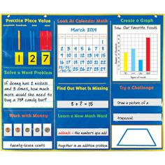 Daily Math Pocket Chart