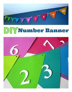 No Sew! Easy number banner tutorial perfect for a playroom or school room decor!