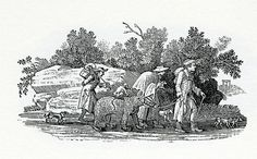 Thomas Bewick (1753 – 1828) was an English engraver and natural history author. Early in his career he took on all kinds of work such as engraving cutlery, making the wood blocks for advertisements, and illustrating children's books. Gradually he turned to illustrating, writing and publishing his own books, gaining an adult audience for the fine illustrations in A History of Quadrupeds.
