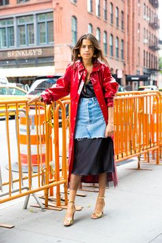 Need ideas around how to wear a denim skirt? Get some, here.