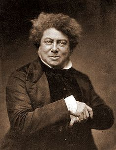 Alexandre Dumas..he looks like fun, doesn't he?  The Count of Monte Cristo is one of my favorites!