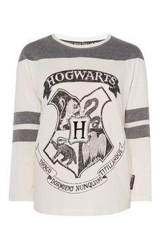 Haut de pyjama Harry Potter à manches raglan