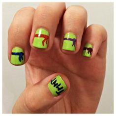 Ninja turtle nails!