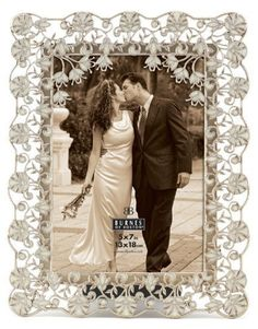 burnes of boston isabella champagne photo frame 8 by 10 inch