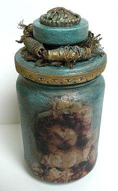 altered jar by saray-viola, via Flickr...Hells yeah