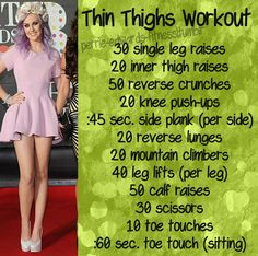 "snow-flake-eleanor: ""youreleanorstyle: "" I seriously need to lose fat on my thighs. I'm not saying I want a thigh gap; I don't need it. I only want thinner thighs. Does anyone know a good workout for..."