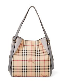 Canterbury Haymarket Check Combo Leather Small Tote from Burberry Handbags & Shoes on Gilt