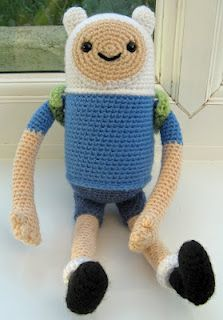 Crochet Finn from Adventure Time...by Angry Angel on Craftster...he's just perfect
