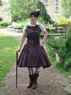 Steampunk Alice in wonderland not sure if too Brown?