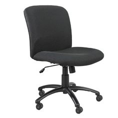 Safco Office Chair - Pin it :-) Follow us :-)) AzOfficechairs.com is your Officechair Gallery ;) CLICK IMAGE TWICE for Pricing and Info :) SEE A LARGER SELECTION of  safco office chair at http://azofficechairs.com/?s=safco+office+chair - office, office chair, home office chair - Safco 3491BL Uber Big and Tall Mid Back Chair, Black « AZofficechairs.com