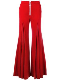 Designer Flared Trousers : Off-White flared trousers White Trousers, Trousers Women, Pants For Women, Clothes For Women, Off White Pants, Red Pants, Stylish Dresses, Fashion Dresses, Blue Skirt Outfits