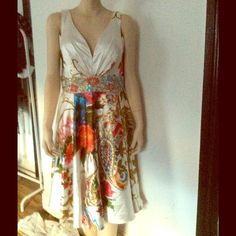 Stunning multicolor beaded Dress. Never worn multicolor beaded dress. Tony Bowls Dresses Prom