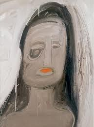 eva hesse - shroud of turin, a distorted visage created by the deformed mental image of the artist