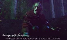 Rumpelstiltskin's reaction when he realized Bae is gone. T-T