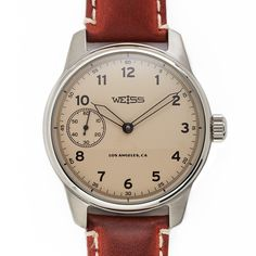 Weiss Special Issue Field Watch Latte Dial - Made In USA