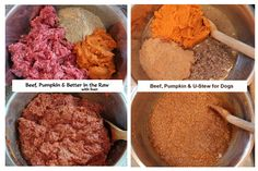Beef, Pumpkin & Better in the Raw with liver - Beef, Pumpkin & U-Stew for dogs