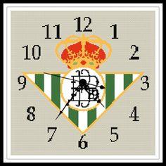 """Gráfico para punto de cruz del """"Reloj del Betis""""."""