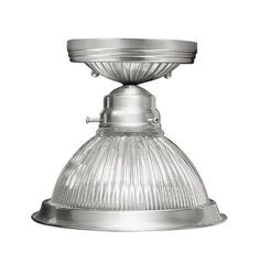 Livex Lighting 600691 Flush Mount with Clear Ribbed Glass Shades Brushed Nickel *** Read more reviews of the product by visiting the link on the image.