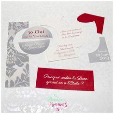 Le faire-part de mariage de Marie-Pierre et Jean-Luc #Mariage #Puzzle http://lespapierspimpants.fr/