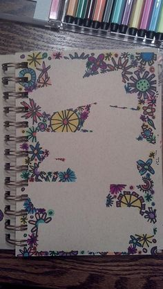 my version of using masking tape on a journal page, doodle over top and pull off tape.