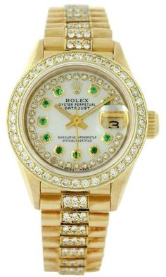 Rolex Datejust 69178 18K Yellow Gold & Mother Of Pearl Dial 26mm Womens Watch