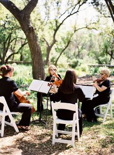 Beautiful string orchestra set in a beautiful garden....