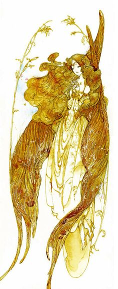 Angel with gold wings by Katarinea~~~