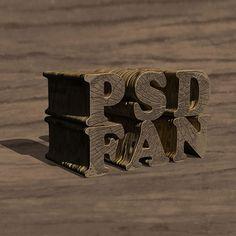Создаём деревянный 3D текст в Фотошоп