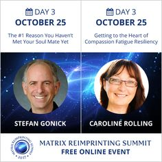 Free interviews at www.matrixeftsummit.com today's The #1 Reason you Haven't met Your Soulmate Yet and Getting to the Heart of Compassion Fatigue Resiliency