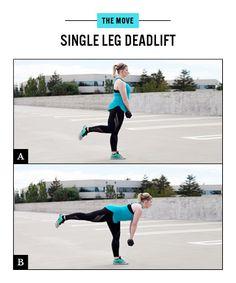 Butt Workout Move No. 4: Single Leg Deadlift