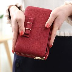 e6e0fe8375 Luxury Women Wallet Phone Bag Leather Case For iPhone and Samsung Phon –  BhellasFashion Leather Cover