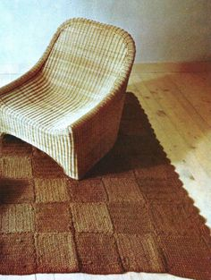 Instant PDF Download Old Vintage Crochet Crocheted Crocheting Instructions Pattern Patterns Jute Throw Accent Rug