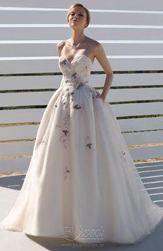 Νυφικό Donna Salado Sylana Nude Color, Formal Dresses, Wedding Dresses, Pretty Dresses, Blush Pink, Bridal Gowns, Ball Gowns, Elegant, Lace