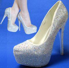 Bling rhinestones wedding shoes