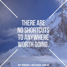True success means no short cuts Visit www.keypersonofinfluence.com.au to find out if you are headed in the right direction.  #noshortcuts #kpimethod
