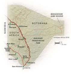 Map of the Kgalagadi Transfrontier Park | South Africa | Expert Africa