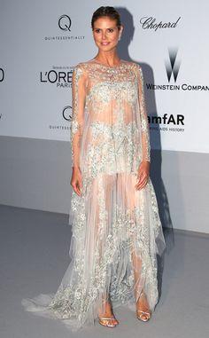 Fotos alfombra roja Gala AMFAR  2012 en Cannes: Heidi Klum