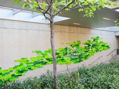 Oakland Art Museum Donor Wall | bricks and branches