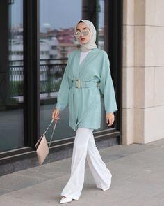 Modest Fashion Hijab, Modern Hijab Fashion, Hijab Chic, Muslim Fashion, Fashion Outfits, Hijab Casual, Korean Fashion, Office Look Women, Office Outfits Women Casual