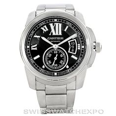 Arguably Calibre de Cartier is the most interesting timepiece from current Cartier's collection of watches.  Calibre De Cartier Stainless Steel Automatic Mens Watch W7100016