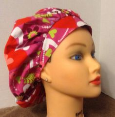 A personal favorite from my Etsy shop https://www.etsy.com/listing/179368032/womens-bouffant-surgical-hat-pearly