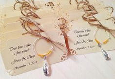 Etsy seller. Wine themed wine charms. Wedding favors. Bridal shower favors. Vineyard wedding inspired.