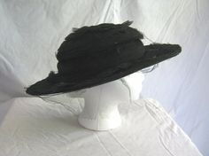 Antique hat early 1900s 1910s Edwardian by vintageboxofdelights, $40.00